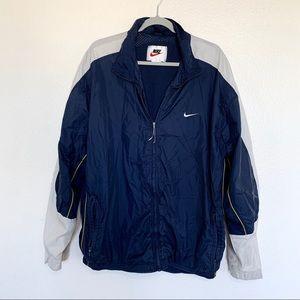 Vintage Nike Color Block Navy Windbreaker Jacket